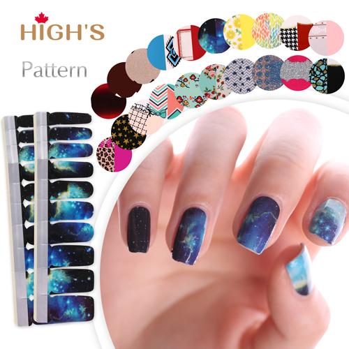 HIGH\'S Pattern Series Nail Polish Strips, Galaxy – High\'s Australia