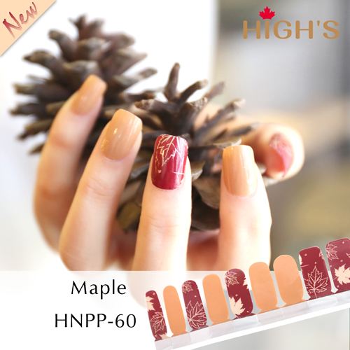 HIGH\'S Exclusive Design Series Nail Polish Strips, Maple – High\'s ...